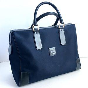 5e763b70a2 Vintage Celine Carry On Duffle Travel Bag Navy